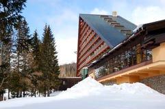 Modern luxury hotel at ski resort Stock Photos