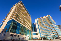 Modern luxury hotels Pullman on Black Sea city of Sochi. Sochi, Russia - February 10 2016: Multi-storey hotel complex Pullman Sochi Centre Stock Photo