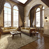 Modern Luxury Interior Royalty Free Stock Photography