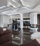 Modern luxury interior in daylight Stock Photos