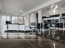 Modern luxury interior in daylight Stock Image