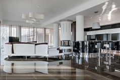 Modern luxury interior in daylight Royalty Free Stock Photography