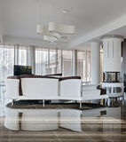 Modern luxury interior in daylight Stock Photos