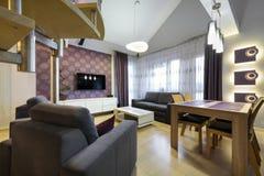 Modern luxury interior design apartment Stock Image