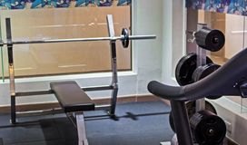 Modern luxury interior fitness gym Stock Images