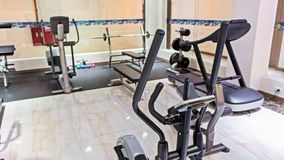 Modern luxury interior fitness gym Royalty Free Stock Photos