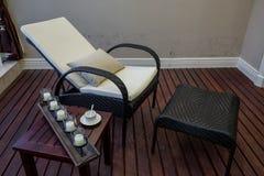 Modern luxury interior home decoration design Rest chair villa stock photography