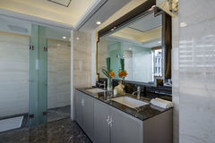Modern  luxury interior home design bathroom Stock Photography