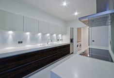 Modern luxury kitchen Royalty Free Stock Images