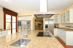 Modern luxury kitchen royalty free stock photography