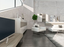 Modern luxury living room interior with nice furniture Royalty Free Stock Images