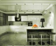 Modern luxury mansion. Modern kitchen in luxury mansion stock image