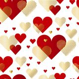 Modern luxury Valentines Day seamless pattern. Royalty Free Stock Image