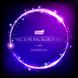 Modern luxury vector background with round border. Modern luxury vector background with golden round border of sparkles. Can be used for decoration. EPS 10 royalty free illustration