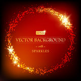 Modern luxury vector background with round border. Modern luxury vector background with golden round border of sparkles. Can be used for decoration. EPS 10 stock illustration