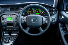 Modern luxury vehicel  dashboard lights. Stock Images