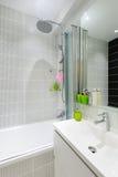 Modern luxury white bathroom interior Royalty Free Stock Photos