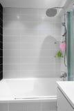 Modern luxury white bathroom interior Stock Photography