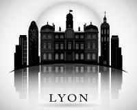 Modern Lyon City Skyline Design. France Royalty Free Stock Images