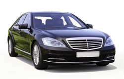 Modern lyxig utövande bil Royaltyfri Bild
