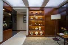 Modern lyxig villa för inrehemdesign Arkivfoto