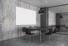 Modern mötesrum med den tomma affischen Arkivfoto