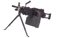Modern M249 us army machine gun Stock Image