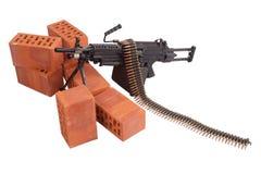 Modern machine gun on position Royalty Free Stock Photography