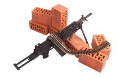 Modern machine gun on position Royalty Free Stock Images