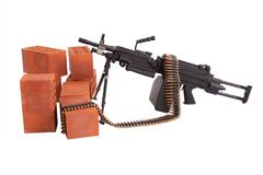 Modern machine gun on position Royalty Free Stock Photo