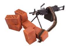 Modern machine gun on position Royalty Free Stock Photos
