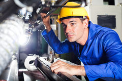 Modern machine operator Royalty Free Stock Photos