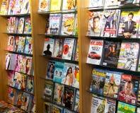 Modern magazine racks Royalty Free Stock Photo