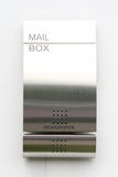 Modern mail box. A modern metal mail box Stock Photo
