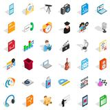 Modern mail icons set, isometric style. Modern mail icons set. Isometric set of 36 modern mail vector icons for web isolated on white background Royalty Free Stock Images