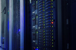 modern mainframe disk storage in the data center Royalty Free Stock Image