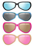 Modern male and female sunglasses Stock Photos