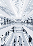 Modern mall. Panoramic view of a modern mall Royalty Free Stock Photo