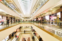 Modern mall. Panoramic view of a modern mall Royalty Free Stock Photography