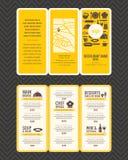 Modern mall för broschyr för restaurangmenydesign vektor illustrationer