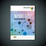 Modern mall för broschyr för vektorabstrakt begreppmikroskopi Arkivfoto