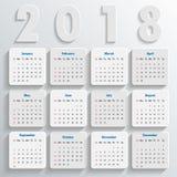 Modern mall för kalender 2018 vektor/illustration Arkivfoton