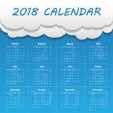 Modern mall för kalender 2018 vektor/illustration Royaltyfria Bilder