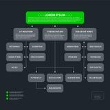 Modern mall för organisationsdiagram i plan stil på mörker - grå bakgrund Arkivfoto