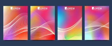 Modern mall för tidskrift eller årsrapport för katalog för räkning för annons för broschyrbroschyrreklamblad Abstrakta former för royaltyfri illustrationer