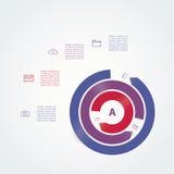 Modern mall för vektor. Abstrakt cirkulering. Tre avbruten cirkel Vektor Illustrationer