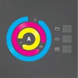 Modern mall för vektor. Abstrakt cirkulering. Tre avbruten cirkel Royaltyfri Illustrationer