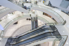 Modern mall. Panoramic view of a modern mall. all logos are removed Stock Image