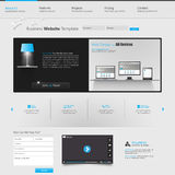 modern mallwebsite Fotografering för Bildbyråer