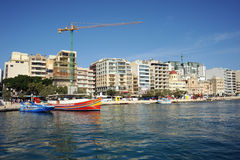 Modern Malta, Sliema waterfront. stock photo